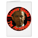Obama The AntiChrist Greeting Card