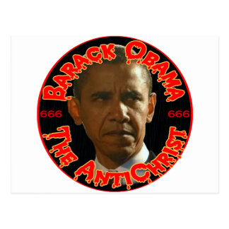 Obama The AntiChrist Postcard