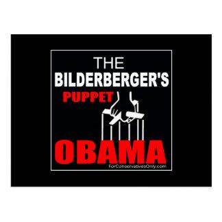Obama - The Bilderberger's Puppet Postcard
