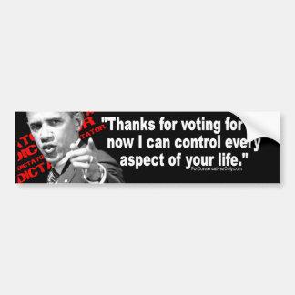 Obama the Dictator Car Bumper Sticker