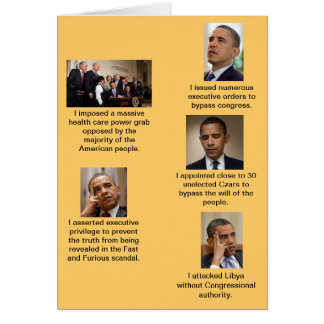 Obama the Dictator Card