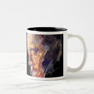 Obama, the Edge of Glory Two-Tone Coffee Mug