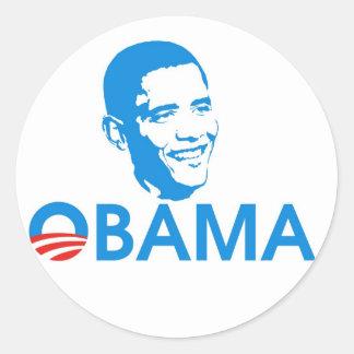 Obama The Hero Round Stickers