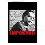 Obama the Impostor Greeting Card
