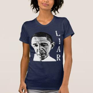 Obama the Liar Ladies Dark Shirt