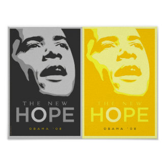 Obama - The New Hope Black and Gold Poster
