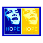 Obama - The New Hope Blue & Gold Postcard