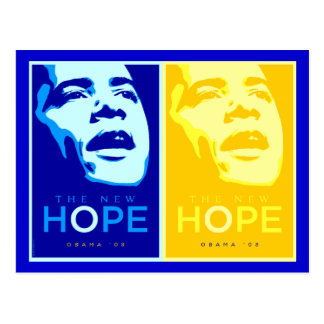 Obama - The New Hope Blue & Gold Postcard