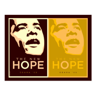 Obama - The New Hope Brown & Gold Postcard