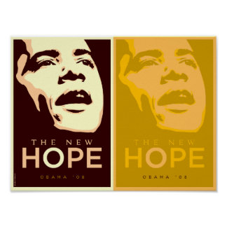 Obama The New Hope Brown & Gold Poster