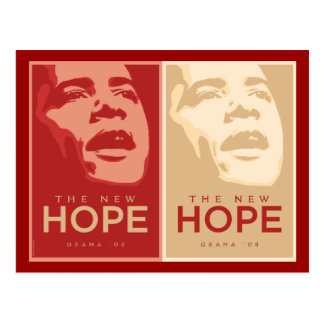 "Obama ""The New Hope"" Red & Tan Postcard"