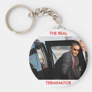 Obama - The Real Terminator Basic Round Button Keychain