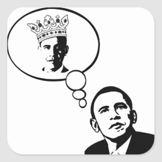Obama Thinks He's King stickers