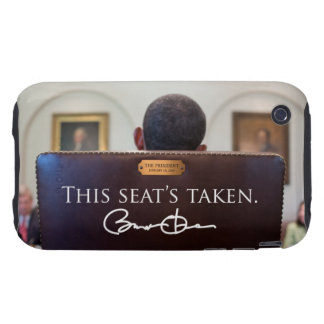 OBAMA 'This Seat's Taken' iPhone 3 Tough Case-Mate iPhone 3 Tough Cover