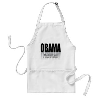OBAMA: THIS TIME I WANT A SMART PRESIDENT ADULT APRON