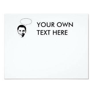 Obama thought bubble 4.25x5.5 paper invitation card