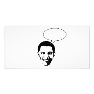 Obama thought bubble photo card template