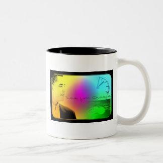 Obama- Time for Change Two-Tone Coffee Mug