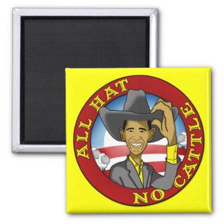 Obama todo el gorra ningún ganado imán cuadrado