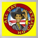 Obama todo el gorra ningún ganado poster