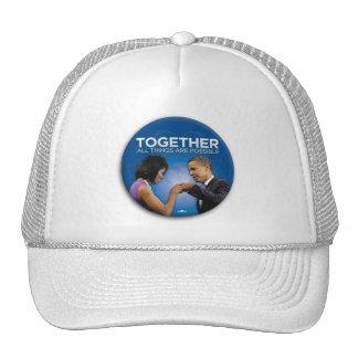 Obama togetherness! trucker hat