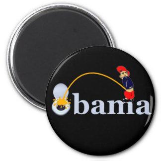 Obama (toilet) 2 inch round magnet
