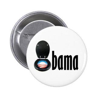 Obama (toilet) pinback button