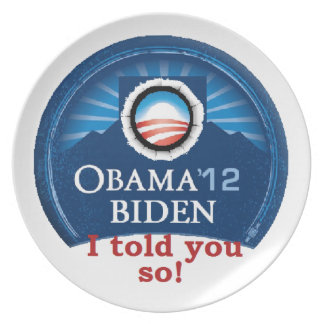 Obama TOLD YOU Dinner Plate