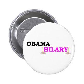 Obama toma a Hilary Pins