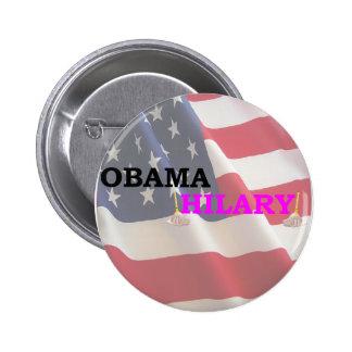 Obama toma a Hilary Pin
