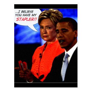 obama tomó mi grapadora tarjetas postales