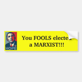 Obama - tontos elegidos marxista etiqueta de parachoque