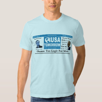 Obama: Too Legit For Mitt T-shirt