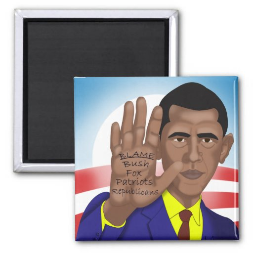 Obama Trades in Teleprompter 2 Inch Square Magnet