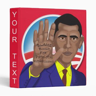 Obama Trades in Teleprompter 3 Ring Binder