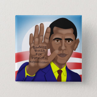 Obama Trades in Teleprompter Pinback Button