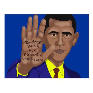 Obama Trades in Teleprompter Postcard