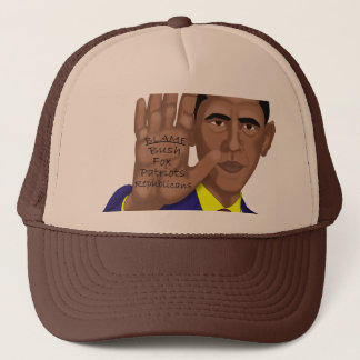 Obama Trades in Teleprompter Trucker Hat