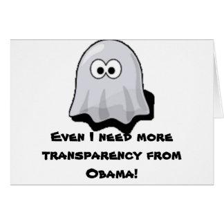 Obama transparency greeting card