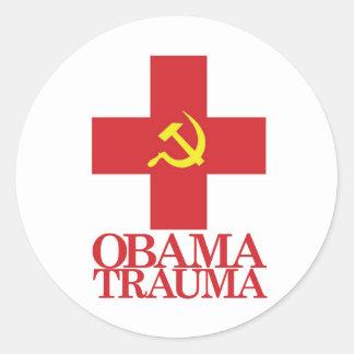 Obama Trauma Round Stickers