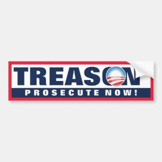 Obama Treason Car Bumper Sticker
