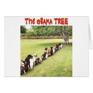 OBAMA TREE GREETING CARD