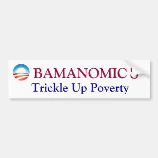 OBAMA, Trickle Up Poverty Car Bumper Sticker