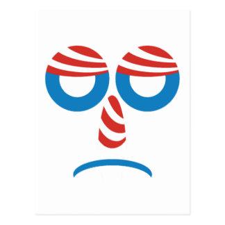 Obama triste hace frente postales