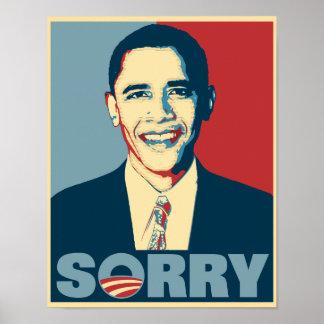 Obama triste póster
