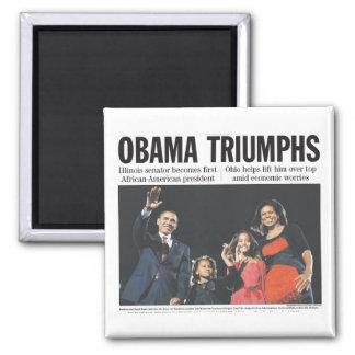 Obama Triumphs Magnet
