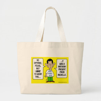 obama tshirt white people suck michelle large tote bag