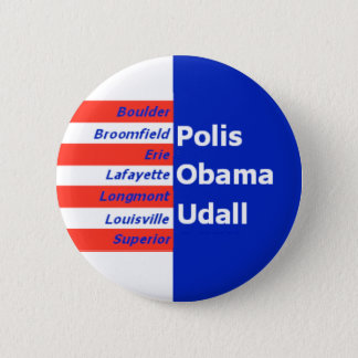 "Obama Udall Boulde 2 1/4"" Button"
