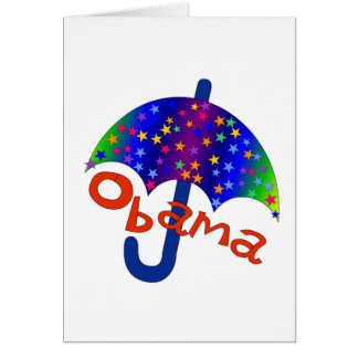 Obama Umbrella Inaguration Memento Card