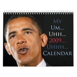 Obama Ummm Uhhh Calendar